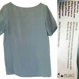 Eileen Fisher Silk Short Sleeve Top XL